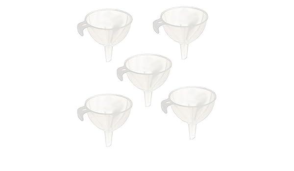 Amazon.com: Aceite Agua eDealMax plástico de cocina líquido embudo de trasvase herramienta 5pcs blanco claro: Kitchen & Dining
