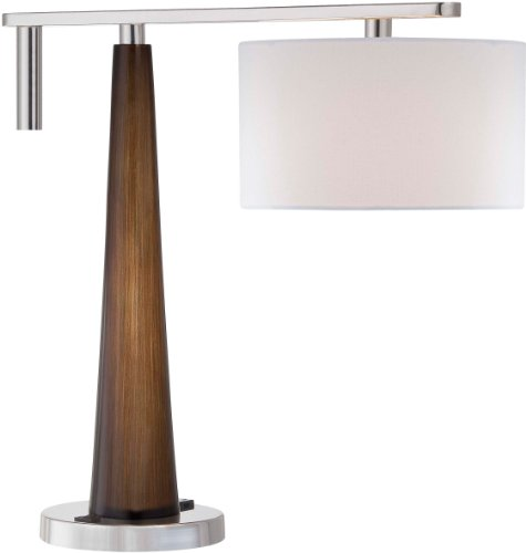 Minka Lavery 10039-0 Minka 10039-0Table Table Lamp Collection Collectiontable (Table Nickel Walnut Lamp)