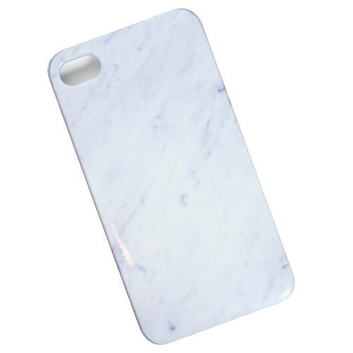 Slim Case for iPhone 4, 4s. White Marble.