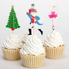 Price comparison product image The Nutcracker and The Mouse King Cupcake Toppers (Pack of 24) Birthday Baby Shower Christmas Party
