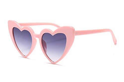 FEISEDY Vintage Heart Shaped Sunglasses Women Stylish Love Eyeglasses B2421 -