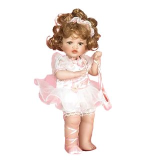 Tiffany Porcelain Toddler Ballerina Doll in Pink for sale  Delivered anywhere in USA