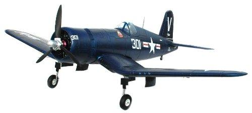 FMS F4U Corsair Electric RC Airplane Mini Warbird V2 4CH Channel Ready To Fly RTF, Comes w/ Powerful Brushless Motor & Li-Po Battery