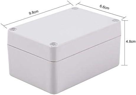 Recinto blanco al aire libre de las cajas de conexiones eléctricas plásticas del ABS a prueba de polvo impermeable IP66(100x68x50mm): Amazon.es: Bricolaje y herramientas