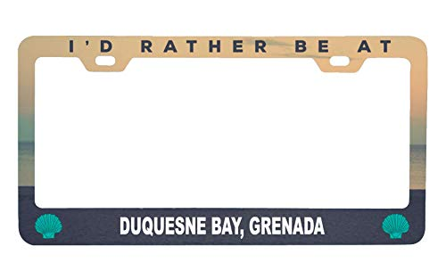 R and R Imports Duquesne Bay Grenada Sea Shell Design Souvenir Metal License Plate Frame (Imports Grenada)
