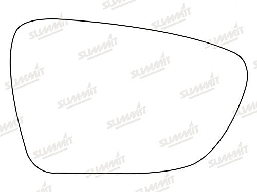 Fits on rhs of vehicle Summit Replacement Wide Angle Mirror Glass