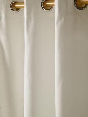 Paire de Rideaux /à /œillets 100/% Coton C/œurs Rose Pr/êt /à Poser 117 x 137 cm HOMESCAPES
