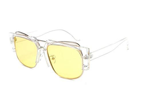 Unisexe en Pour pour de pêche de soleil Frame Big conduire plein la pour UV400 des lunettes Yellow air de lunettes lunettes voyager hommes protection soleil ZEpxHE