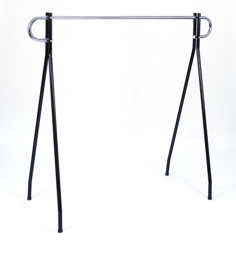 KC Store Fixtures 28707 Clothing Rack, 64-Inches High by 60-Inches Long, Black/Chrome