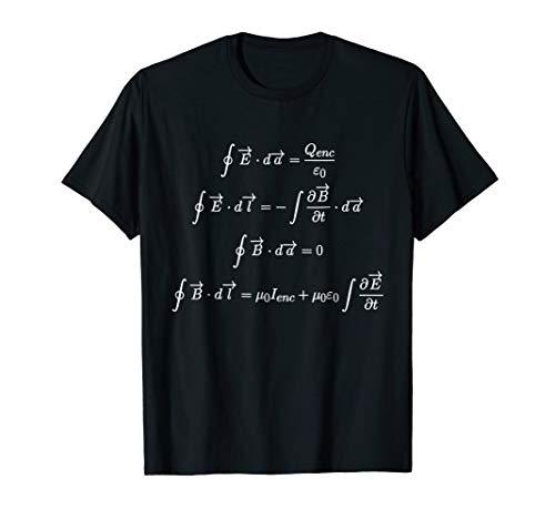 Mens Maxwells Equations Integral Form Cool T Shirts For Geeks 2Xl Black