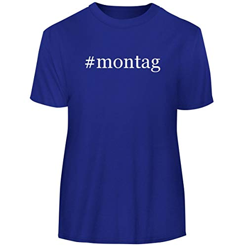 (One Legging it Around #Montag - Hashtag Men's Funny Soft Adult Tee T-Shirt, Blue, X-Large)