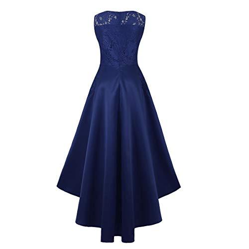senza in XL donna Dimensione damigella d Nhiswsgt da Blu Colore maniche Abito 6waBAxpnqO