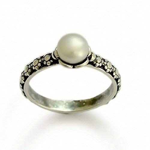 Pearl Ring Solid Silver 925K Sterling Silver Gift For Her Handmade Ring 24K Gold Over Dainty Ring Women For Gifts Bridesmain Gift Mothers Day By Artsmyrna Freshwater Pearl Jewelry
