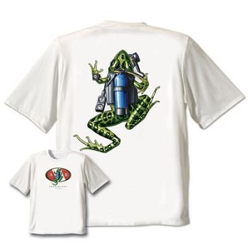 Amphibious Outfitters Scuba Frog Tee Shirt-Black-M