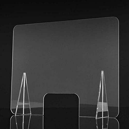 Mampara de metacrilato para mostrador. Mampara para protección del contagio. 65 x 50 cm.