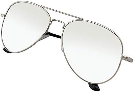 Premium Classic Metal Reflexivo Espejo Lente Aviador Gafas De Sol Emblem Eyewear/®
