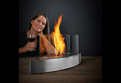 Sharper Image Tabletop Fireplace - Black by Sharper Image