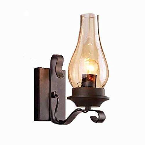 RMXMY American Retro Industrial Wind Lighting Kerosene lamp Family Restaurant Aisle Staircase Wrought Iron Creative Personality Decorative Lighting