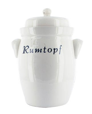 Rumtopf, Gärtopf 5 Liter mit Dekor