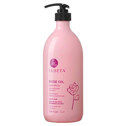 Luseta Rose Oil Shampoo for Fine and Dry Hair, 33.8oz