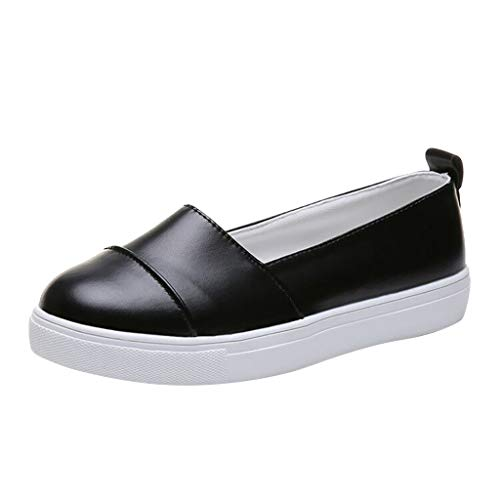 New!!!!! Respctful ♫♫Womens Casual Walking Shoes Breathable Lightweight Slip On Flat Loafer for Non Slip Outdoor Black