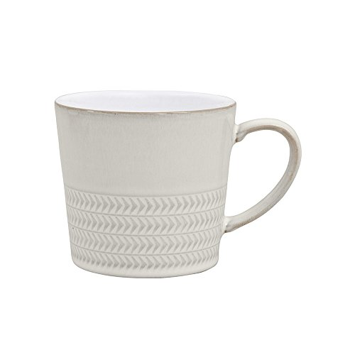 Denby USA Natural Canvas Large Textured - Denby Coffee White