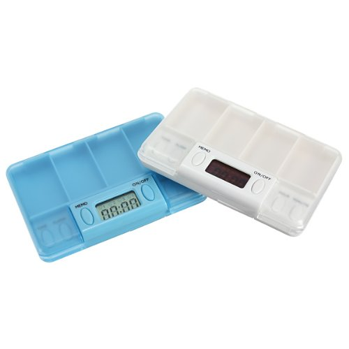 LCD Digital Pill Medicine Case Box Alarm Reminder Container Timer.