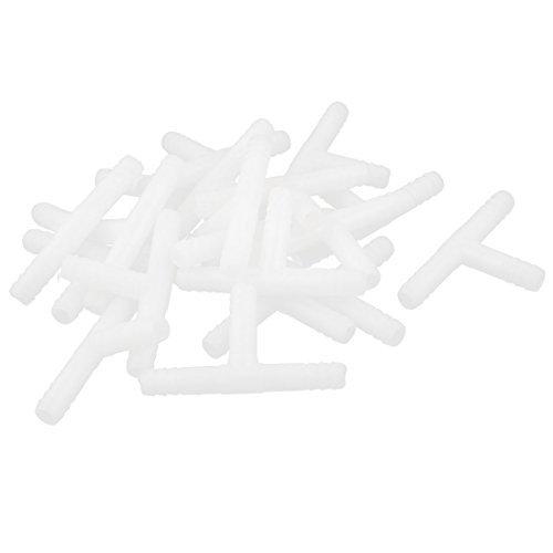 Amazon.com : eDealMax 20 piezas DE 3 conectores de tubo Camino Tee acuario DE 7 mm de diámetro de línea aérea manguera Blanca : Pet Supplies