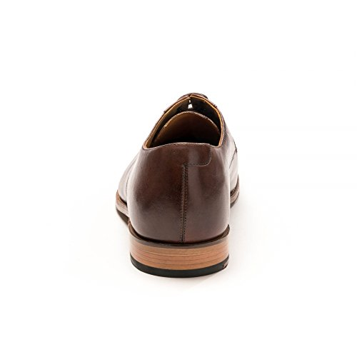 Grenson Brown di Derby Mano Mens Scuro Verniciato Marrone Liam Dark qOqzwr