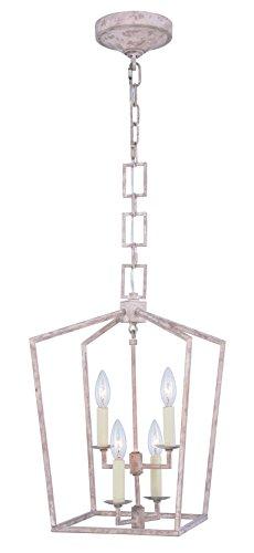 Elegant Lighting Denmark 4 Light Pendant in Ivory - Pendant Light 4 Denmark