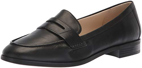Cole Haan Women's Pinch Grand Penny Loafer Flat, Black Leather, 5.5 B US
