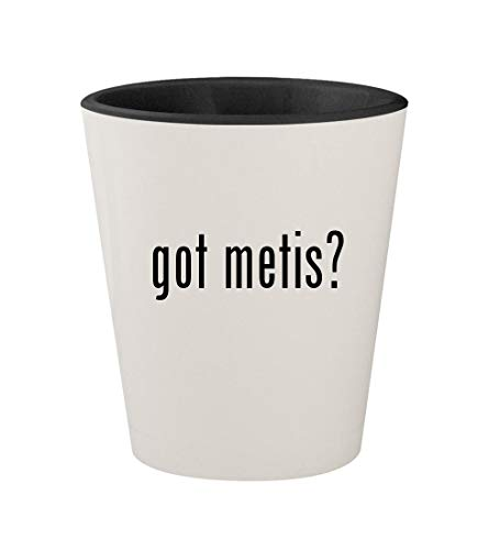 (got metis? - Ceramic White Outer & Black Inner 1.5oz Shot Glass)