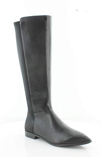 NINE WEST Womens Owenford Pointed Toe Knee High Riding Boots, Black, Size 7.5