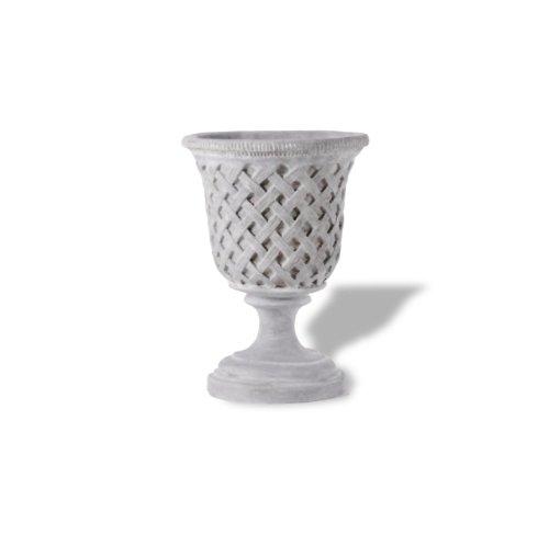 Amedeo Design ResinStone 2505-7G Lattice Urn, 14 by 14 by 18-Inch, Lead ()