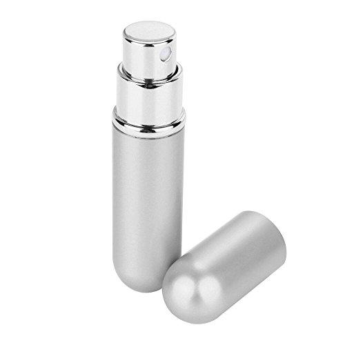 ❤️MChoice❤️6ml Perfume Bottle Mini Portable Travel Refillable Perfume Atomizer Bottle (Silver)