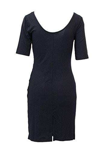 18WWVK43 Kleid Desigual Damen Vest Stencil Schwarz Kurzes x5qAqBRX