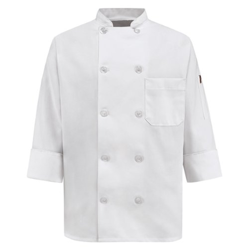Wrangler Workwear Chef Designs Women's Plus-Size Chef Coat, White, XX-Large by Wrangler Workwear