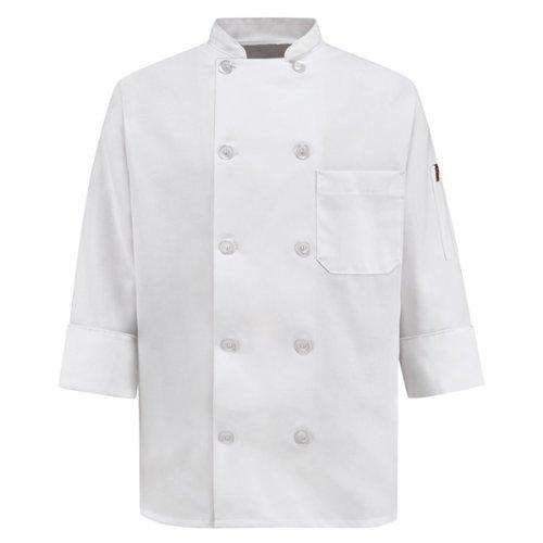 Wrangler Workwear Chef Designs Women's Plus-Size Chef Coat, White, XX-Large
