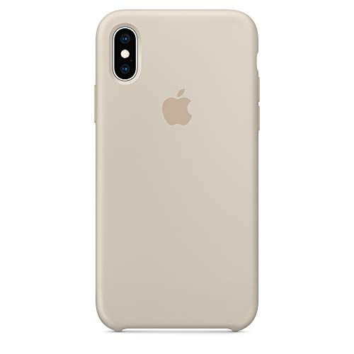 Dawsofl Soft Silicone Case Cover for Apple iPhone Xs Max 2018 (6.5inch) Boxed- Retail Packaging (Stone)