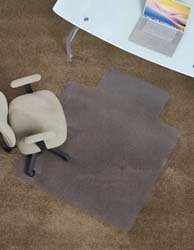 Beveled Edge Vinyl Anchormat Chair Mat - 72X60