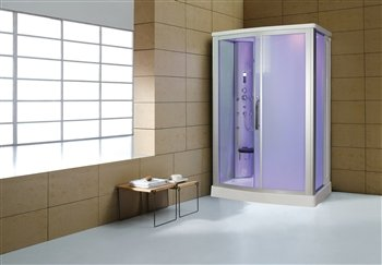 Eagle Bath WS-803L 110v ETL Certified Steam Shower Enclosure 3KW generator with 2 Fold-up Seats 2 Handheld Showerheads Acupuncture Massage (12 Jets) and Temperature