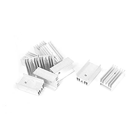 DealMux alumínio TO220 Poder IC dissipador de calor Radiador dissipador de calor 25x15x10mm 10pcs