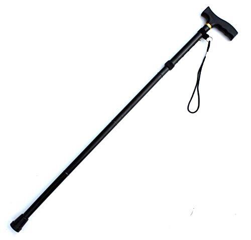 Walking Stick Home Aluminium Faltstock älterer Mann Wanderstöcke Verstellbare Teleskopstange Stick Slip (Farbe   schwarz, Größe   840-930)