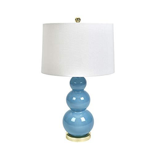 (Sagebrook Home 50045-06 Ceramic Triple Gourd Table, Light Blue, 30
