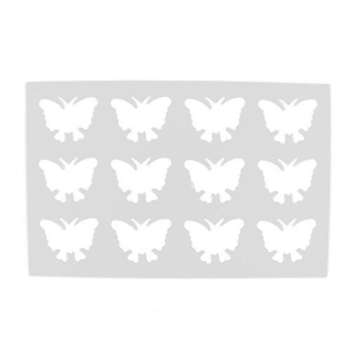Amazon.com: DealMux Plastic 12 Cavidades Design Borboleta Mold Bolo de chocolate: Kitchen & Dining