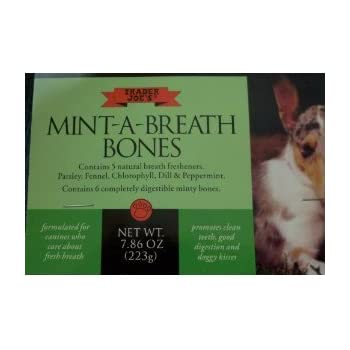 Amazon.com : Trader Joe's Mint-A-Breath Dog Bones, 6 Bones