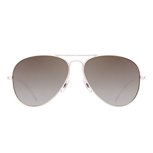 Retro Polarized Aviator Sunglasses Flash Tinted Lens Eyeglasses for Women Men UV400 (Gold Alloy / Polarized Gradient - Gradient Polarized Sunglasses