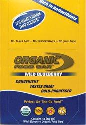 Organic Food Bar Blueberry - Box - 12 - Bar