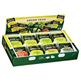 Green Tea Assortment, Tea Bags, 64/Box,