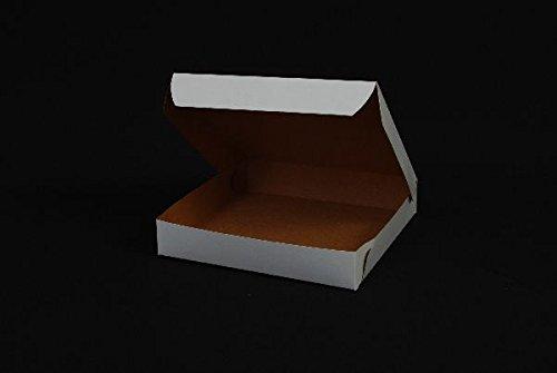 "Southern Champion 1401 Paperboard Pizza Box White, 8"" X 8"" X 1.5"" 100 per case"